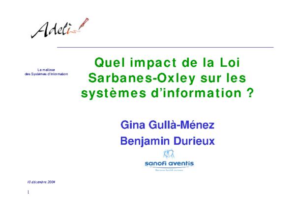 SarbanesOxleyAct_et_implication_du_SI_Gina_Gulla_Menez_Benjamin_Durieux