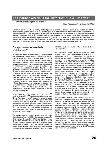l60p26-Les paradoxes de la loi Informatique & libertés