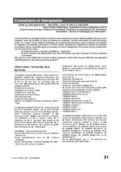 l59p31-Consultants et thérapeutes
