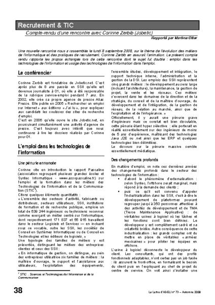 l73p38-Recrutement et TIC