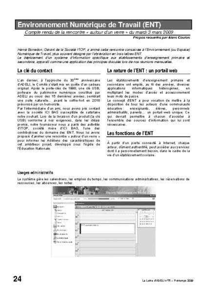 l75p24-Environnement numérique de travail (ENT)