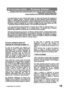 """l78p15-Un nouveau métier: """"Business Analyst"""" 1"""
