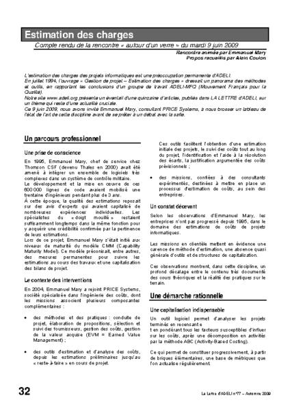 l77p32-Estimation des charges