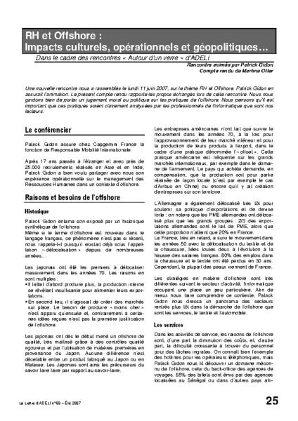 l68p25-RH et Offshore: impacts culturels, opérationnels et géopolitiques…