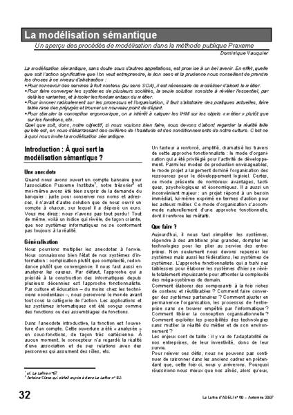 l69p32- la modélisation sémantique