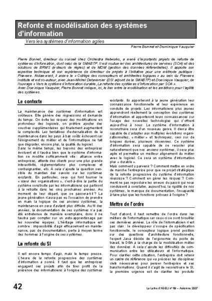 l69p42-refonte et modélisation des systèmes d'information