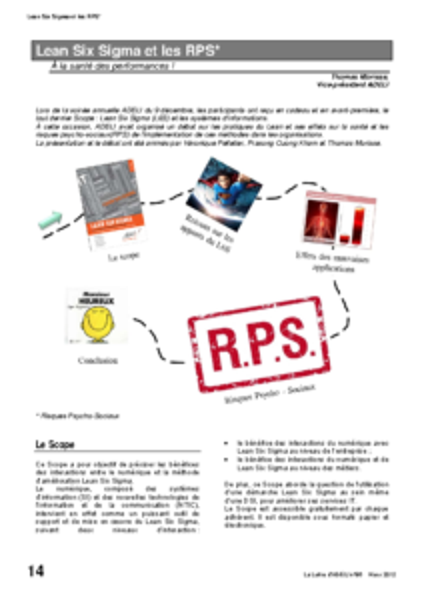 l86p14-Lean Six Sigma et les RPS