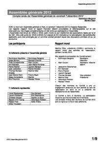 ADELI- Compte rendu Assemblée Générale 2012 1