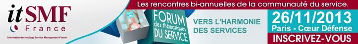 Bannière forum itSMF 2013