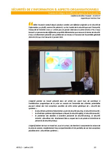 L100p10-Sécurités de l'information & aspects organisationnels