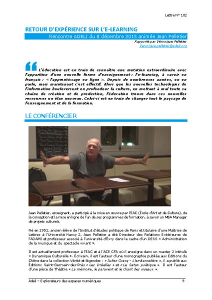 L102p09-Retour d'expérience sur l'e-learning
