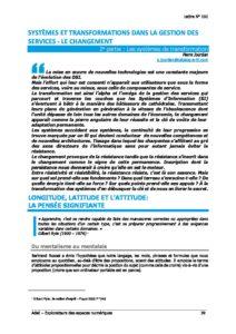 L102p39-Systèmes et transformations dans la gestion des services - Le changement 2e partie : Les systèmes de transformation 9