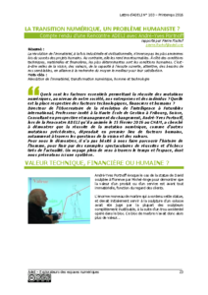 L103p23-La transition numérique, un problème humaniste?