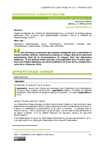 L111Sp11-Apprentissages humain et machine
