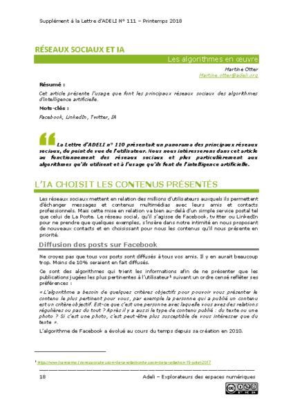 L111Sp18-Réseaux sociaux et iA