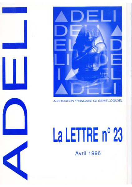 Lettre 23 – Avril 1996