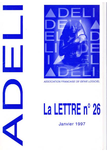 Lettre 26 – Janvier 1997