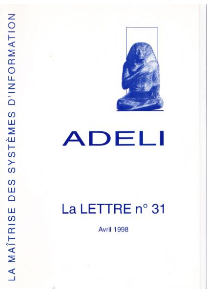 Lettre 31 – Avril 1998