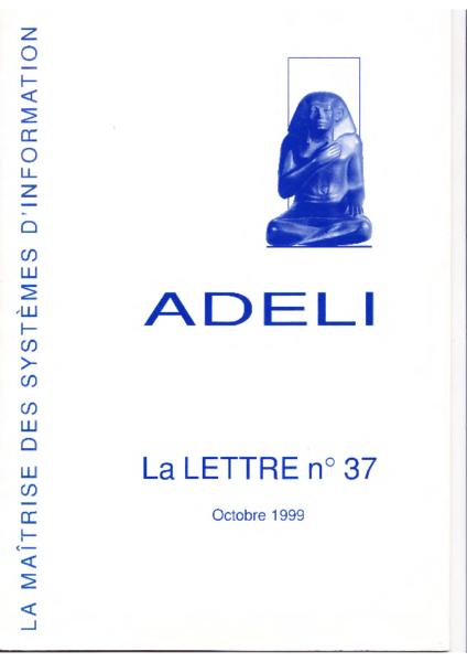 Lettre 37 – Octobre 1999