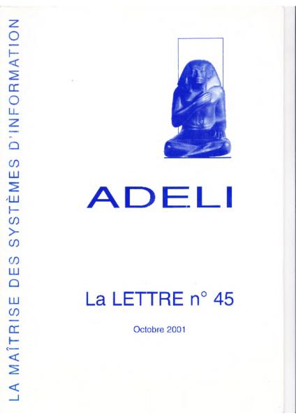 Lettre 45 – Octobre 2001