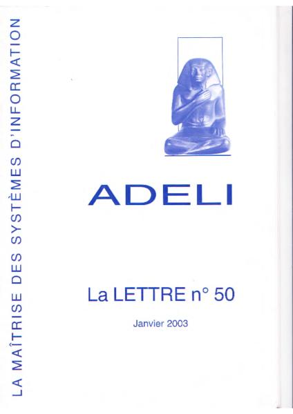 Lettre 50 – Janvier 2003
