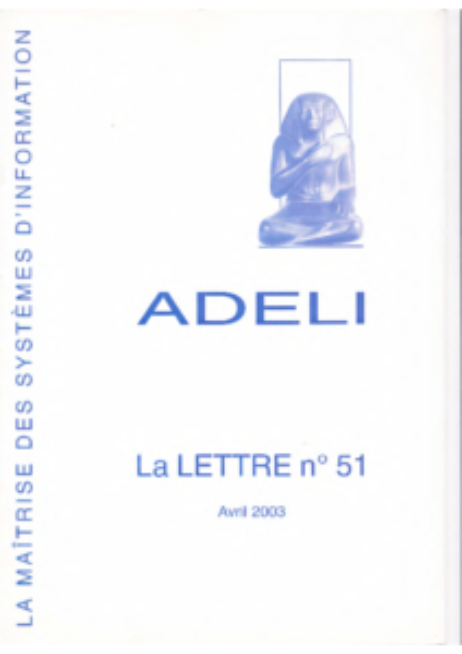 Lettre 51 – Avril 2003