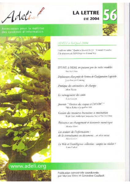 Lettre 56 – Eté 2004 – Qualité et sécurité des SI