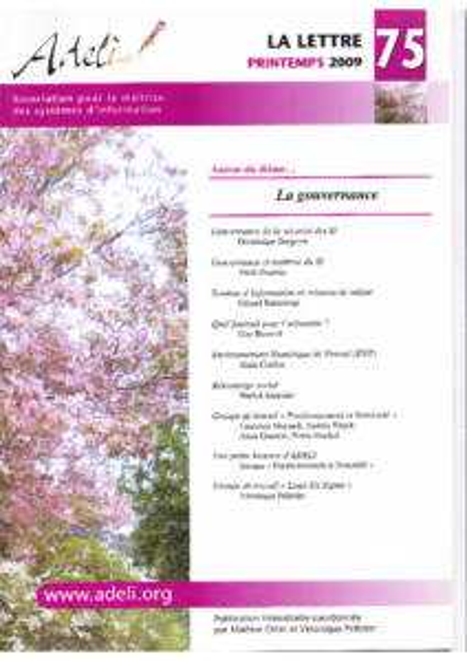 Lettre 75 – Printemps 2009 – La gouvernance