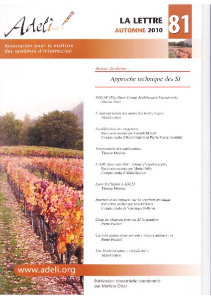 Lettre 81 – Automne 2010 – Approche technique des SI