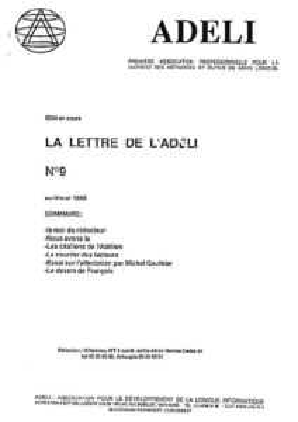 Lettre 9 – Avril Mai 1989