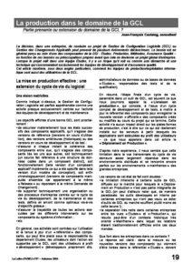 l57p19-La production dans le domaine de la GCL 3
