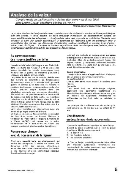 l80p05-Analyse de la valeur