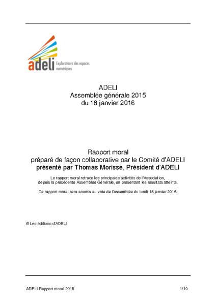 ADELI-Rapport Moral 2015