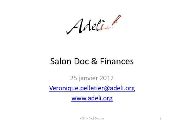 Doc&Finance 2012