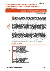 L101p13-Transformation des systèmes et systèmes de transformations dans la gestion des services - le changement 3