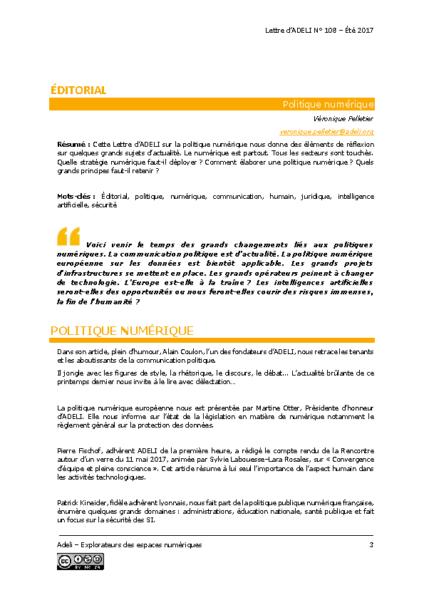 L108p03-Éditorial – Politique numérique