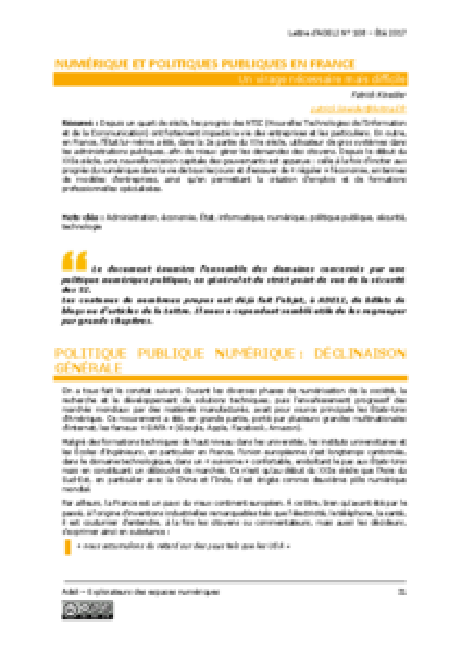 L108p31-Numérique et politiques publiques en France