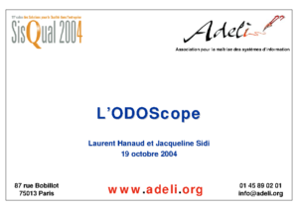 Sisqual2004-PresentationODOSCOPE