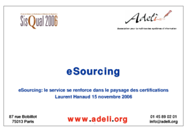 Sisqual2006-Laurent Hanaud-eSourcing