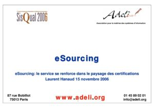 Sisqual2006-Laurent Hanaud-eSourcing 4