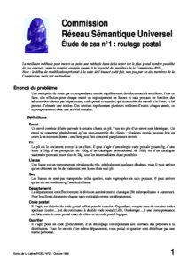 l37p24-Commission Réseau Sémantique Universel étude de cas n°1: routage postal 4
