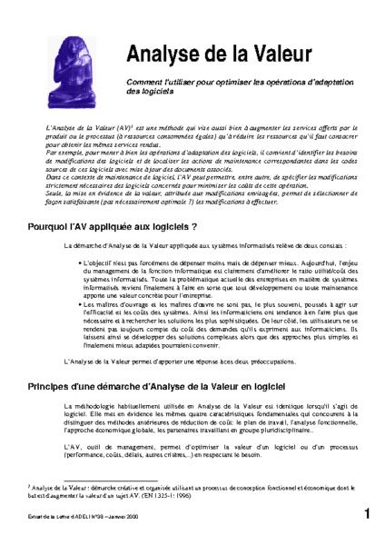 l38p27-Analyse de la valeur