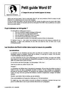 l40p27-Petit guide Word 97 7