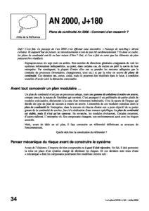 l40p34-AN 2000 + J180 Plans de continuité An 2000 Comment s'en resservir ? 10