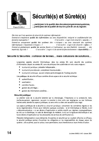 l42p14-Sécurité(s) et sûreté(s)