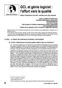 l52p08-GCL et génie logiciel: l'effort vers la qualité 5