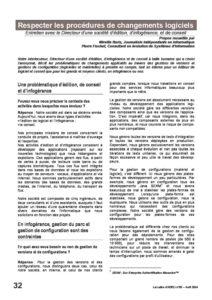 l55p32-Respecter les procédures de changements logiciels 4