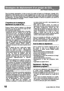 l56p18-Stratégies de déploiement d'un projet de GCL 2