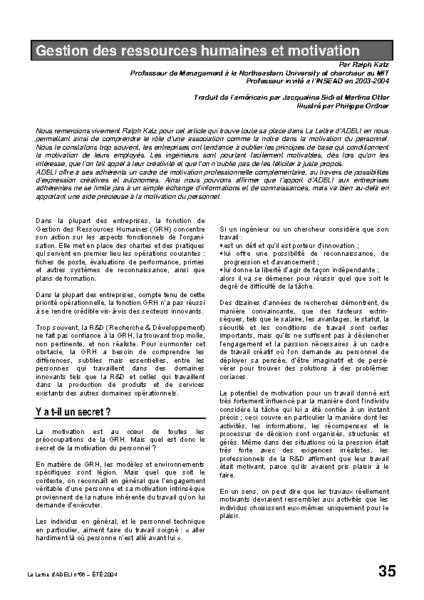 l56p35-Gestion des ressources humaines et motivation