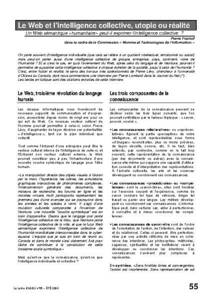 l56p55-Le Web et l'intelligence collective, utopie ou réalité?